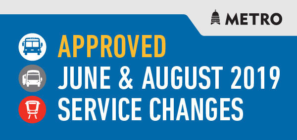 June and August 2019 Service Changes