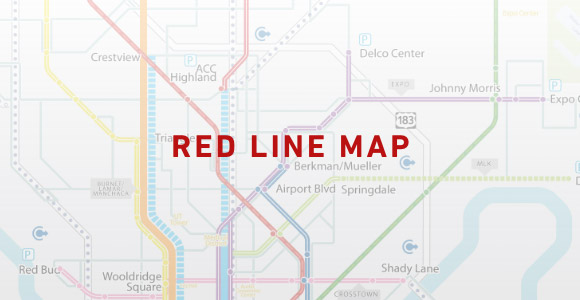 A Project Connect Map Envisioning a Red Commuter Rail Line