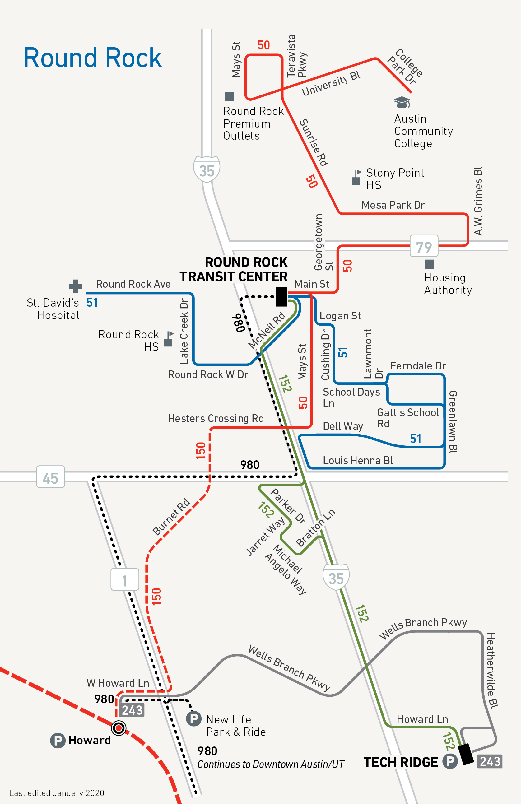 CapMetro Pickup Service Map